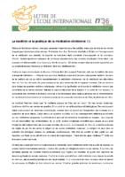3_36 La tradition et la pratique de la méditation chrétienne (1)