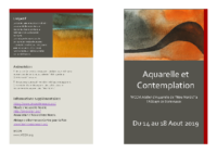 Aquarelle et contemplation